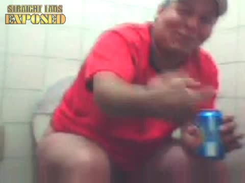 fat man caught in the toilet