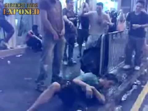 golden shower in street