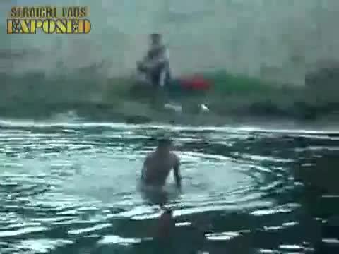 nude lake swim