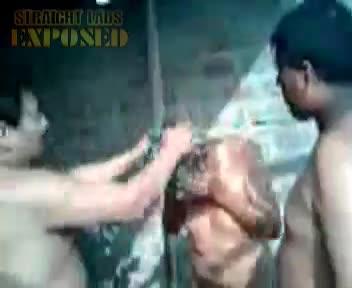 naked man bathed
