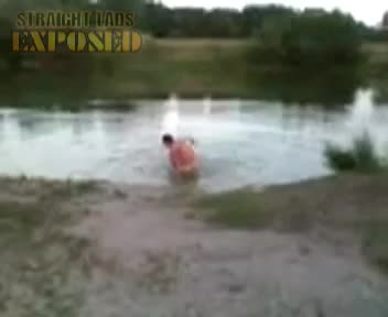lad goes skinny dipping