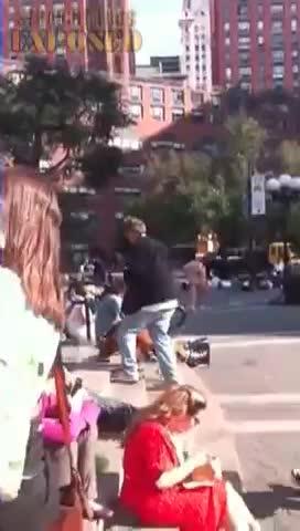 Naked guy walking around union square