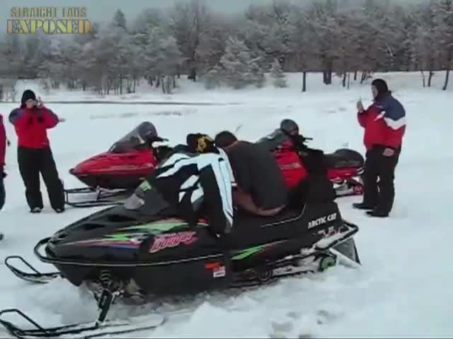 naked snowmobile lads