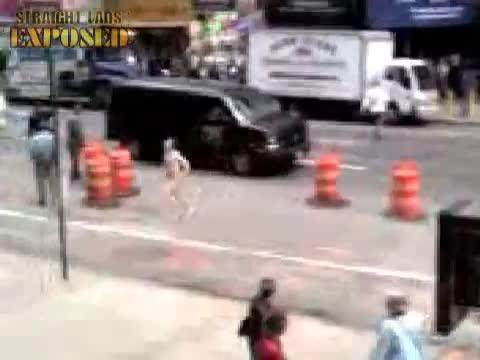 Times Square streaker