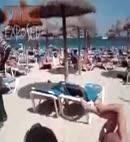 JOE AND LUCKY LUCKY MAN ON THE BEACH NAKED