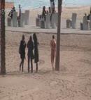Naked Man in Barceolona Beach II