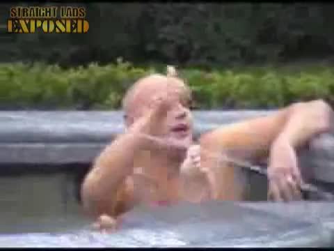 estonian guy swims in fountain