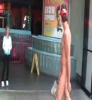 Naked guy walking in pier 39 1