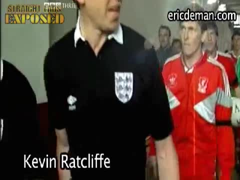 Kevin Ratcliffe flashes his goods