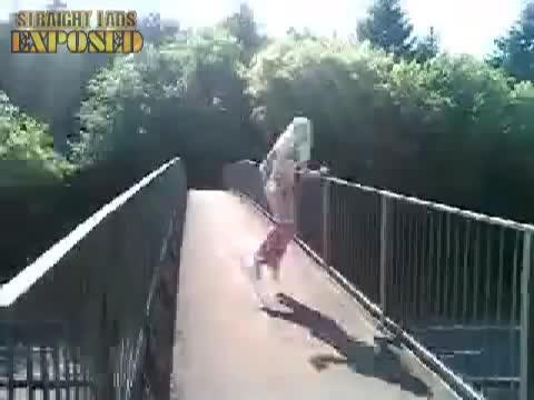 Luke naked dancin on a bridge