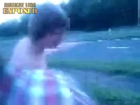 Naked  guy scares traffic