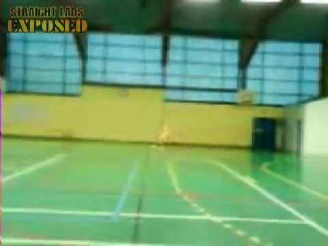 Naked football match