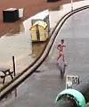 Naked dude on Brighton beach
