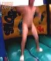 naked jump into paddling pool