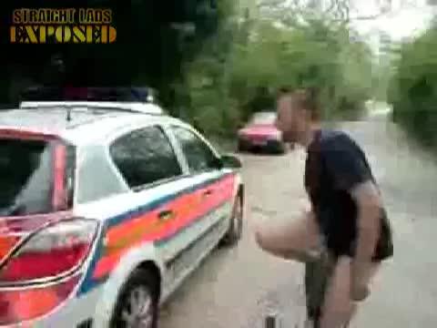 Naked police car