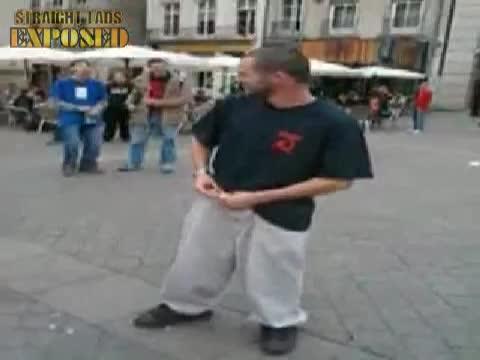 Public dick dance