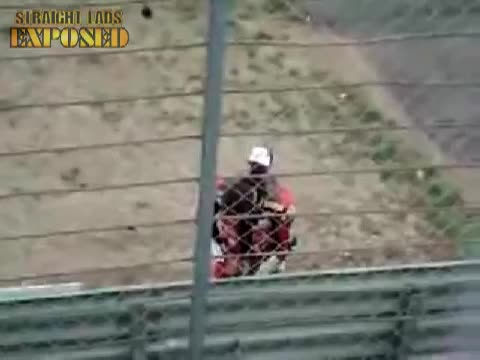 Troy Corser caught pissing