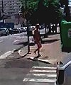 naked in street