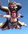 Barney Skydives Naked with UK Parachuting