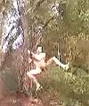 Montel's naked tree swing