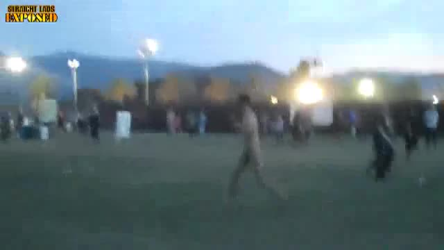 Naked at a festival