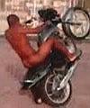naked on a motorbike