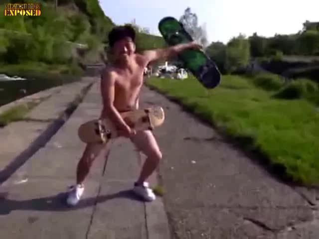 Naked skater