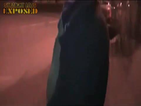 Old man piss in street