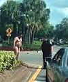 Naked man on street