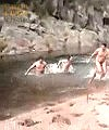 group of lads skinny dip