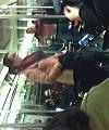 Naked guy on D Train New York City