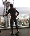 lad on the balcony