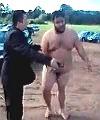 naked fat man arrested