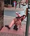 Naked roller blading fail