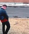 pissing in street