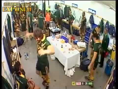 crotch grab in locker room