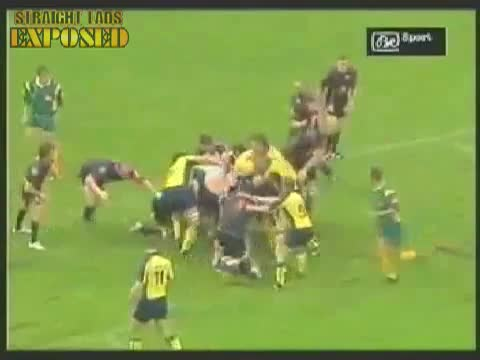rugby ass in scrum
