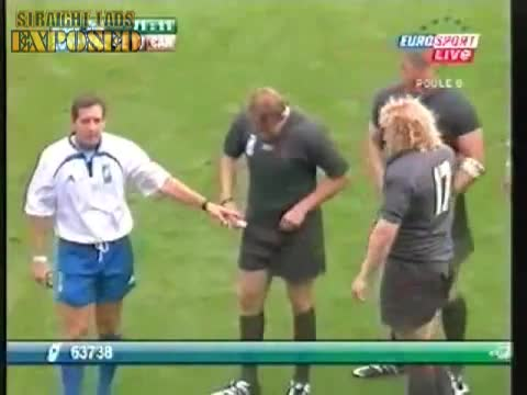 rugby player changes pants