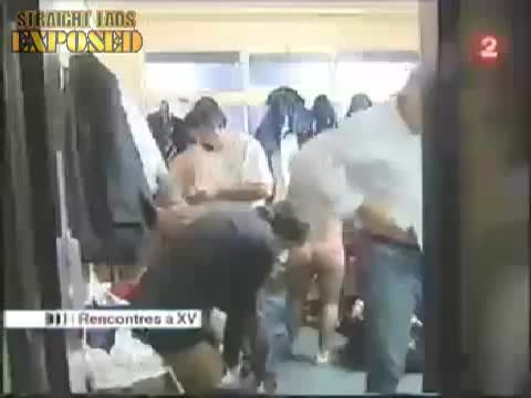 french rugby locker room