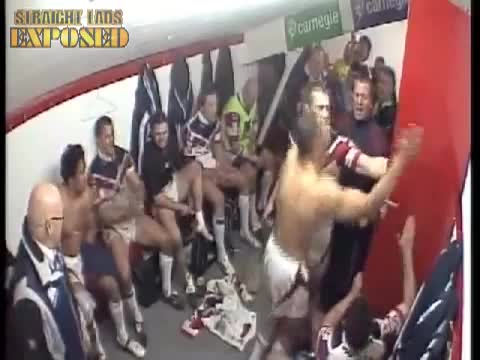 Castleford Tigers in locker room