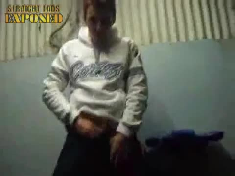 dancing lad shows cock