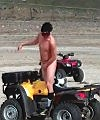 Riding An ATV naked