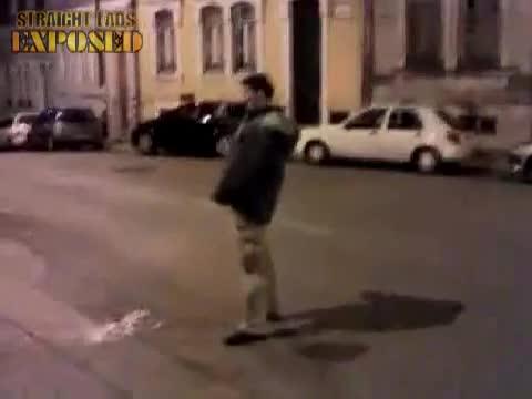 lad's pisses in street