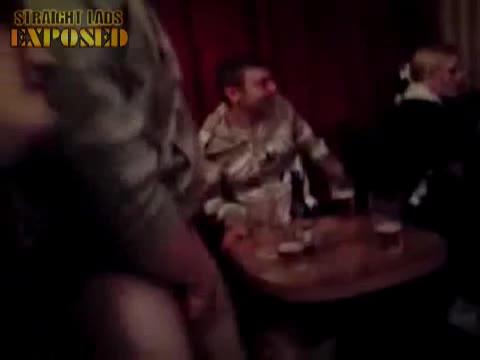 Cock flash at pub