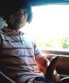 wanker lad in car