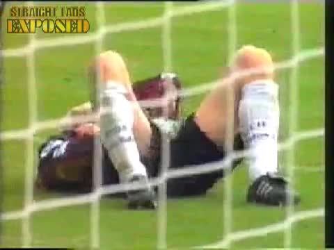 goalkeeper plays with cock