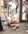 naked man broken window