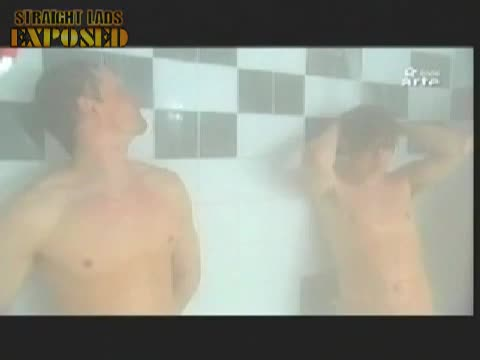 footballers in showers