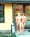 two lads naked run
