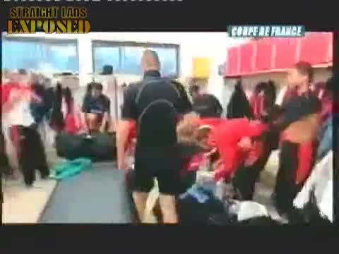 french footballers locker room singing